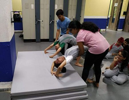 gymnastics and fitness training at BHIS , Andheri