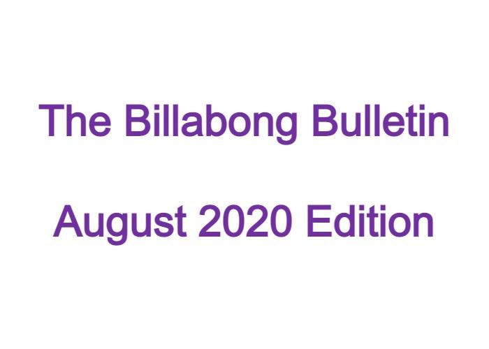 Billabong Bulletin – August 2020 Edition