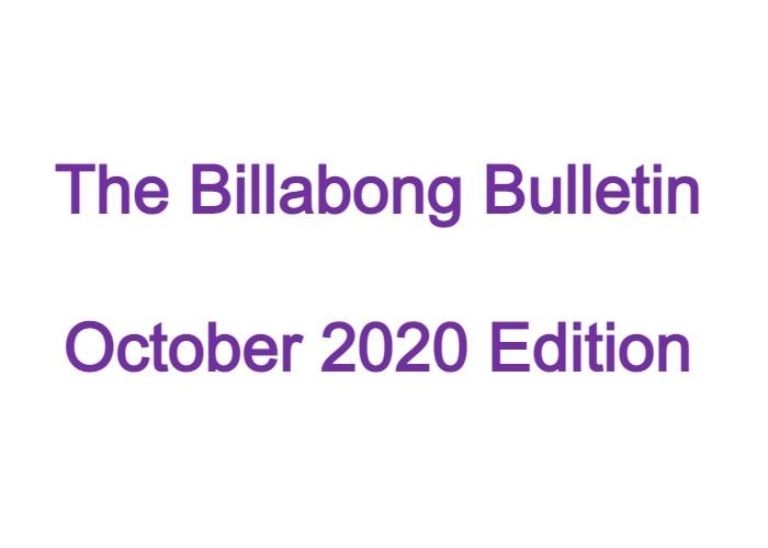 Billabong Bulletin – October 2020 Edition